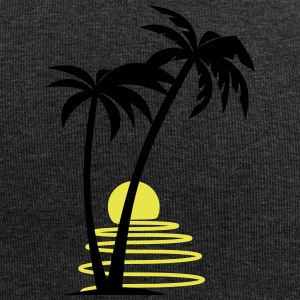 Palm trees with sun allround designs - Jersey Beanie