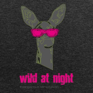 "Fawn with sunglasses ""wild at night"" - Jersey Beanie"