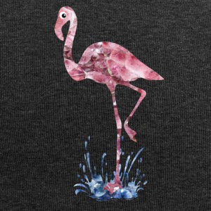 Flamingo rosa Kristalle Press - Jersey-Beanie