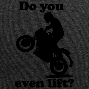 motorrad motorradfahrer wheelie do you even lift - Jersey-Beanie