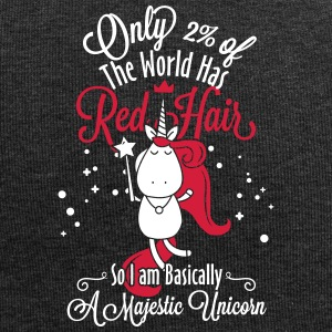 red hair unicorn - Jersey Beanie