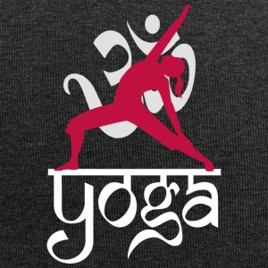 Yoga OM Reverse Warrior Pose - Beanie in jersey
