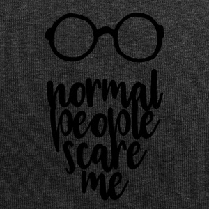 Normal people scare me - black - Jersey Beanie