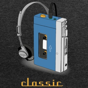 CLASSIC-WALKMAN retro design, blue - Jersey Beanie
