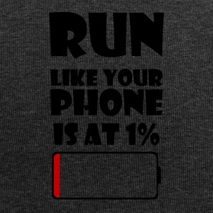 Run like your phone is at 1% - Jersey Beanie