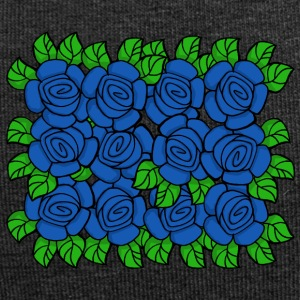 Blue Roses (Transparent) - Bonnet en jersey