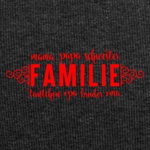 Family Love - Familie - Jersey-Beanie