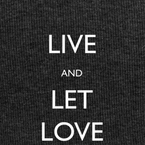 Live And Let Love - Beanie in jersey