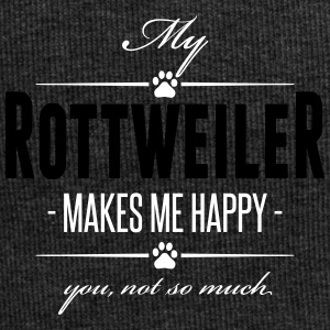 My Rottweiler makes me happy - Jersey Beanie