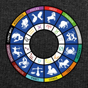 Graphic of the twelve signs of the zodiac - Jersey Beanie