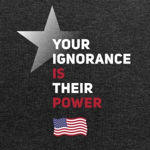 power Amerika star political statement Spruch fahn - Jersey-Beanie