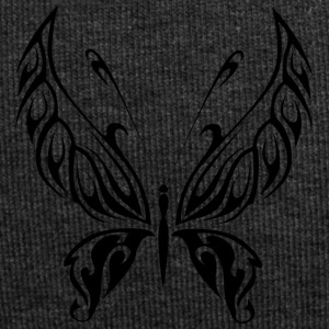 Black Tribal Tattoo Butterfly as a gift - Jersey Beanie