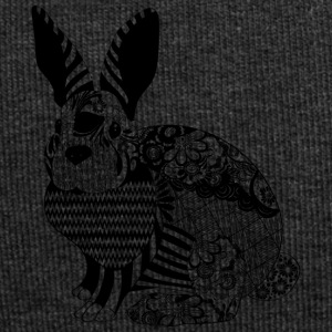 Hase / mythical creature with checks and floral pattern - Jersey Beanie