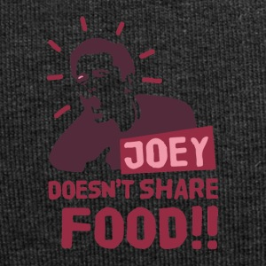 Joey-doesnt-share-food-rojo - Gorro holgado de tela de jersey