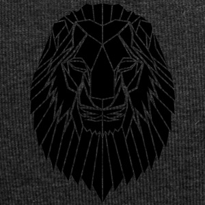 Edgy Geometric safari Lion Print by Stencilize - Jersey Beanie