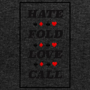 Poker Hate Fold Love Call - Jersey-Beanie