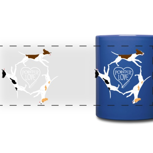 Three pointers heart mug - Full Color Panoramic Mug