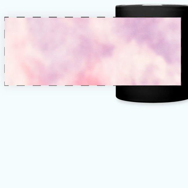 Pink clouds watercolor sky
