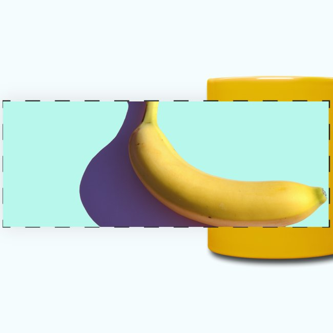 Abstract banana minimalism watercolor