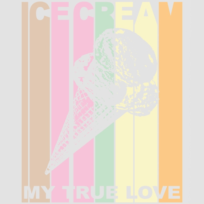 Ice Cream T-shirt Design im Vintage Look