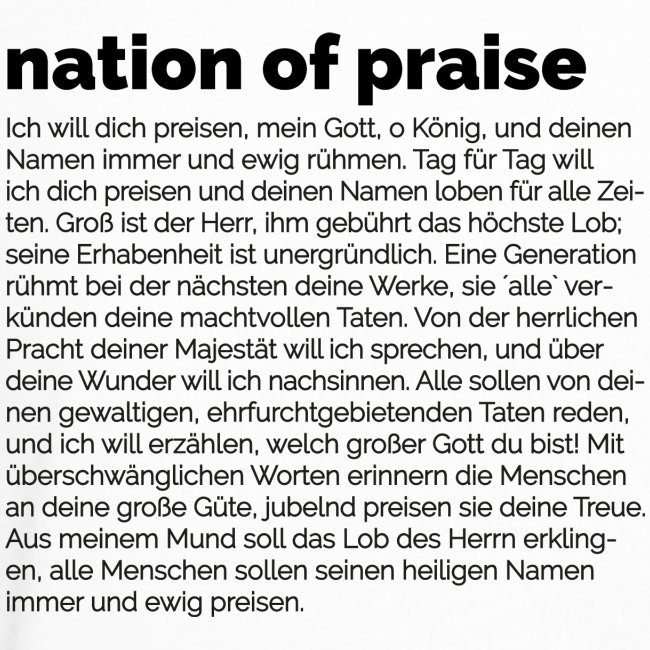 nation of praise // 023 // Equippers DEUT