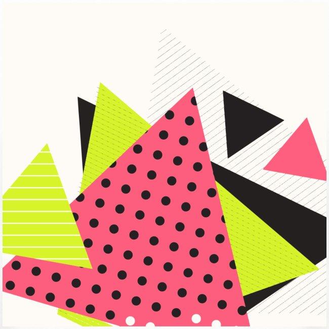 Neon geometry shapes