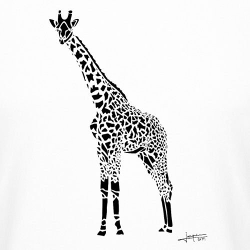 Black Girafe By Joaquín - T-shirt long Homme