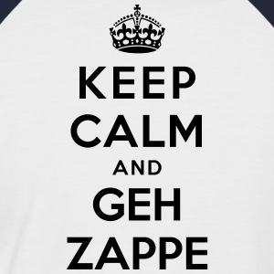 Keep Calm and geh zappe - Hessisch - Männer Baseball-T-Shirt