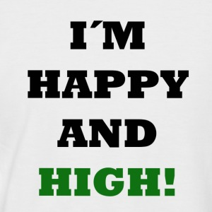 Happy and High - Men's Baseball T-Shirt