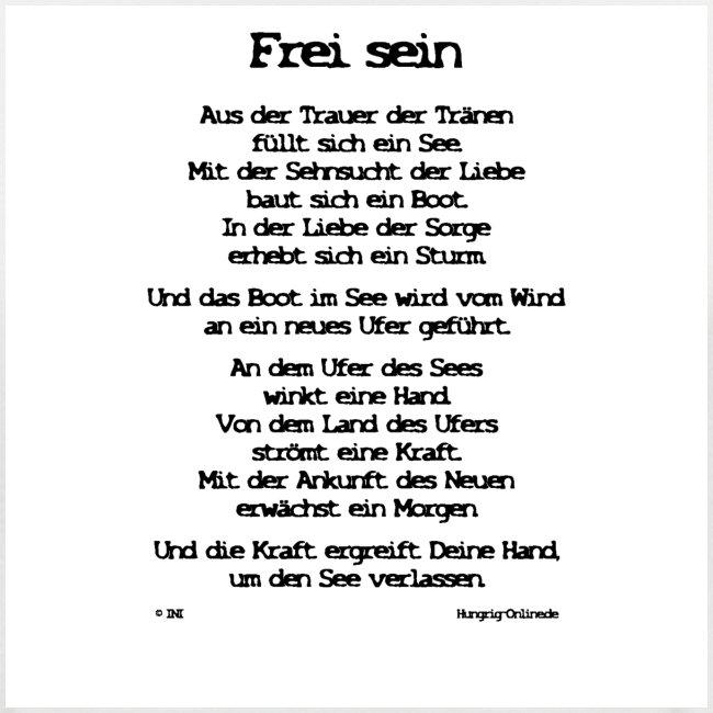 Gedicht Frei Sein Männer Baseball T Shirt