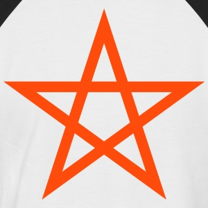 Pentagramme Wicca - T-shirt baseball manches courtes Homme