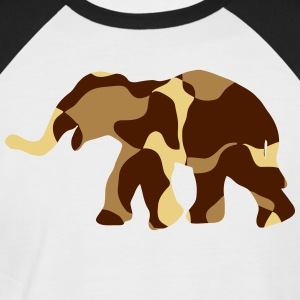 Elephant Camo / Camouflage - Men's Baseball T-Shirt