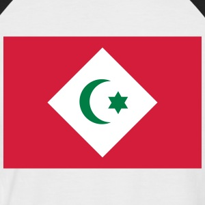 Flag for Republikken Rif - Kortærmet herre-baseballshirt