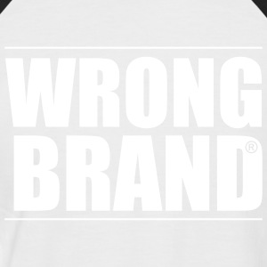 Wrong Brand: the ultimate brand parody - Men's Baseball T-Shirt