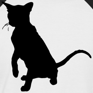 Vector Cat Silhouette - T-shirt baseball manches courtes Homme