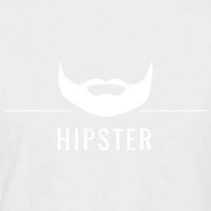 Hipster - beard with lettering and dividing line - Men's Baseball T-Shirt