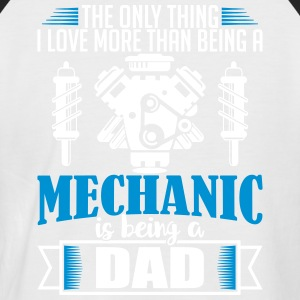 Mechanic Dad - funny fathers day - Men's Baseball T-Shirt