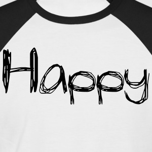happy2 - T-shirt baseball manches courtes Homme
