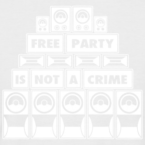 FREE PARTY IS NOT A CRIME SOUND SYSTEM - Men's Baseball T-Shirt