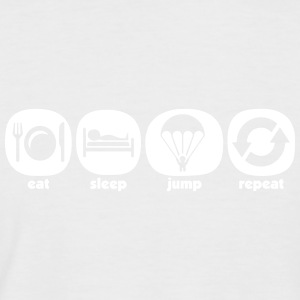Eat Sleep Jump Repeat - T-shirt baseball manches courtes Homme
