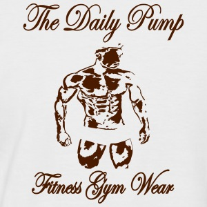 The Daily Pump Fitness Model Male - Men's Baseball T-Shirt