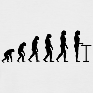 Evolution à la table de bar - T-shirt baseball manches courtes Homme