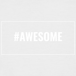 Hipster - Awesome hashtag with outline - Men's Baseball T-Shirt