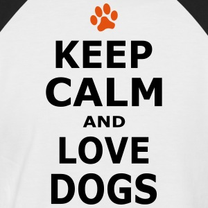 Keep Calm and love dogs - Pfotenabdruck - Kortärmad basebolltröja herr