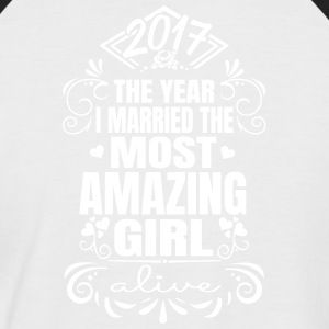 Wedding 2017 - Best Woman - Maglia da baseball a manica corta da uomo