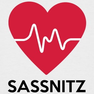 heart Sassnitz - Men's Baseball T-Shirt