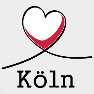 I Love Köln! - Kortermet baseball skjorte for menn