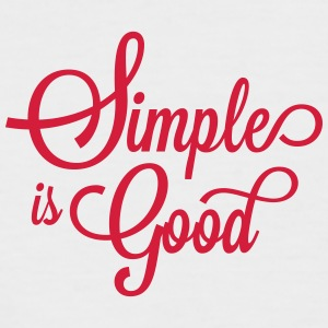 simple is good - Männer Baseball-T-Shirt