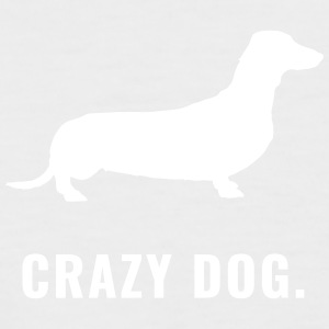 Dachshund - Crazy Dog - Kortermet baseball skjorte for menn