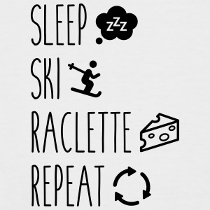 Sleep ski raclette repeat - T-shirt baseball manches courtes Homme